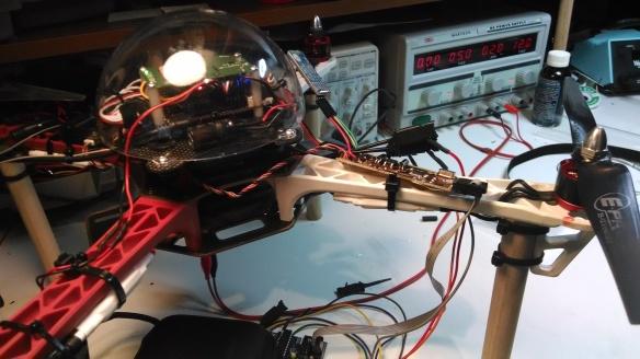Quad hooked up to a logic analyzer