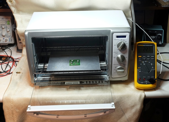 Reflow Oven with Multimeter Temperature Gauge