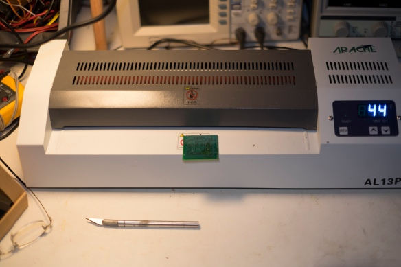 Laminator with PCB ready for development